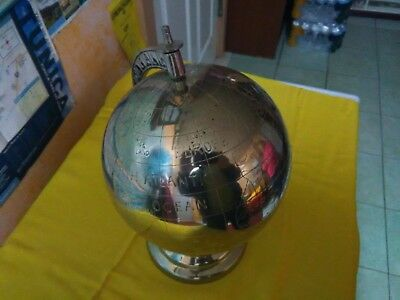 Silver Metal World Globe , Brass