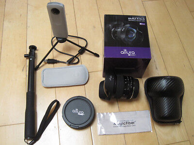 Altura 8MM f/3.0 Fisheye Lens CANON Wide Angle Aspherical AND Ricoh THETA SC 360