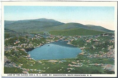 Postcard White Mountains New Hampshire NH Lake of the Clouds White Border
