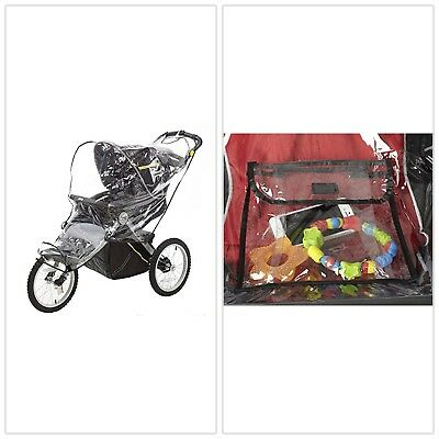 Stroller Weather Shield Baby Rain Cover Universal Size Waterproof Clear Plastic