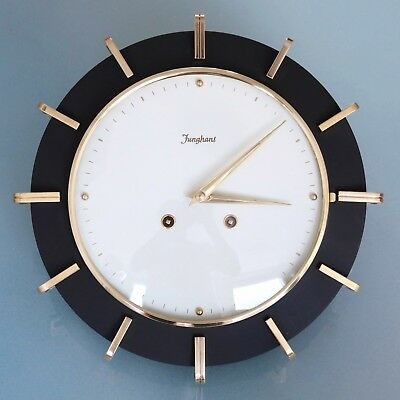 German JUNGHANS WALL Top Clock! RARE LOUDSPEAKER CHIME! SPECIALTY! 1950s Vintage