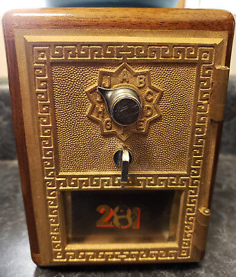 RARE Vintage Personal Post Office Lock Box Combination Bank (1955)