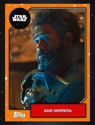 Saw Gerrera Orange Base Series 6 2019 Topps Star Wars Card Trader DIGITAL Card