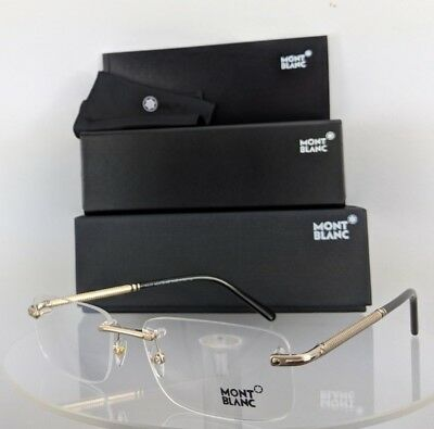 e86d8f63d30 NEW AUTHENTIC MONT Blanc MB 538 028 Eyeglasses Gold MB538 Frame 58mm ...