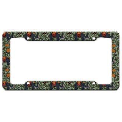 Elephant Kings Pattern License Plate Tag Frame