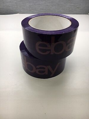 2 Rolls X 75 Yard eBay Branded Purple Packaging Tape Box Packing Shipping Supply
