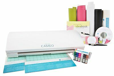 Silhouette Cameo 3 Beginners Bundle Vinyl Kit Hook Tool Sketch Pens & Mats