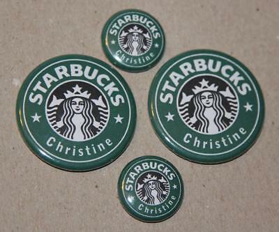 4 Personalized Starbucks Magnets