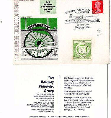 Gb Official Commemorative Cover  Dated 10-10-1970 Doncaster With  Card