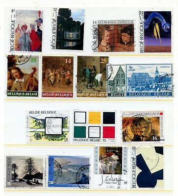 Weeda Belgium 1194//B1035 VF used collection, 1973-2001, mostly Art CV $38.50