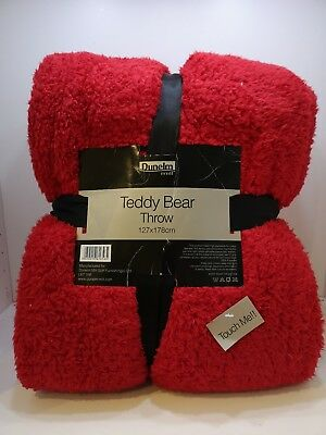 Cool Dunelm Red Teddy Bear Throw New Thick Warm Sofa Bed Dailytribune Chair Design For Home Dailytribuneorg