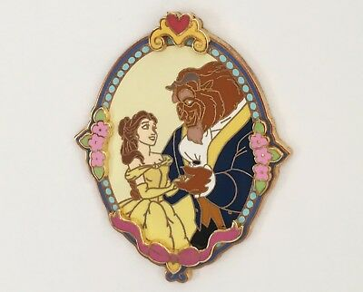 Belle And The Beast In An Oval Frame Disney Pin, 2003