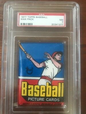 1977 Topps Baseball Unopened Wax Pack PSA 7 Near Mint.