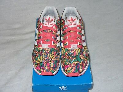 the best attitude 4d6e0 553ad Adidas ZX Flux W Floral Print Multi Color B27463 Womens Size 7.5 NEW WITH  BOX.