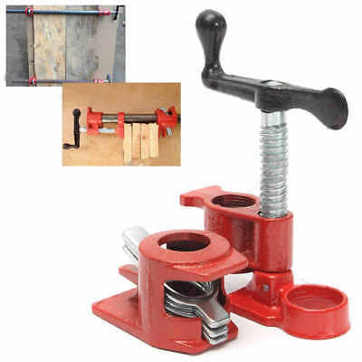 ( 4 Pack )1/2'' Cast Iron Heavy Wood Gluing Pipe Clamp Clip Set Woodworking Tool