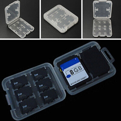 Memory Card Case Holder for 8x SD SDHC Cards MSPD SD Cards Waterproof Anti-shock