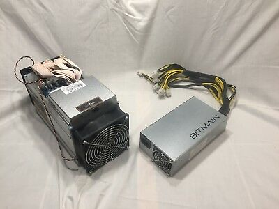 Bitmain Antminer B3 780 KH/s with PSU.  US Seller. 240v & 120v cord if wanted