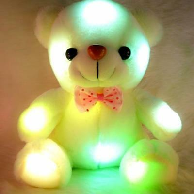 22CM Colorful Plush Toy Light Up LED Teddy Bear Stuffed Animals Unique Gift