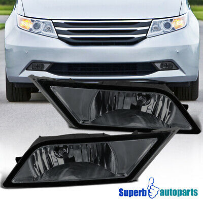 For 11-13 Honda Odyssey Replacement Smoke Bumper Fog Lights Driving Lamps+Switch