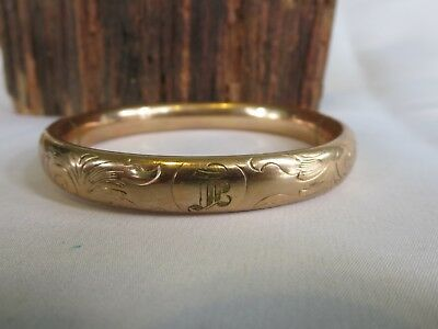 Beautiful antique Art Nouveau/Art Deco Gold filled cuff bracelet F.M.CO