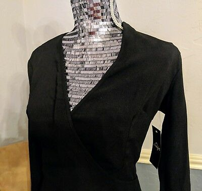 NEW! with Tags! American Apparel True Wrap Dress, Black, Size Large