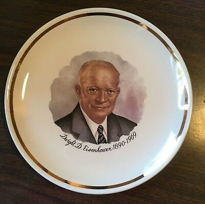 Dwight D. Eisenhower Presidential Collector's Plate w Gold Trim