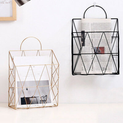 Home Magazine Holder Hanging Newspaper Rack Mounted File Organizer Metal Quality
