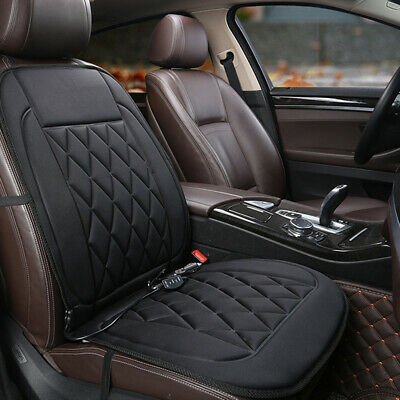 Car Auto Front Seat Hot Heated Pad Cushion Warmer Protector Cover Black 12V Van
