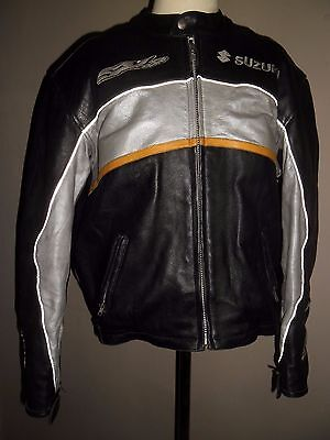 Helston's Cowhide Motorcycle Jacket Armor Removable Official Product Suzuki