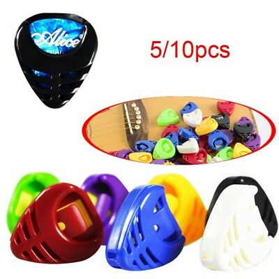 5Pcs Portable Guitar Pick Plectrum Holder Case Box Acoustic Heart Shaped