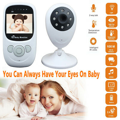 "2.4"" LCD Baby Pet Monitor Wireless Digital 2 Way Audio Video Camera Security AU"