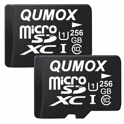 2x QUMOX 256GB MICRO SD MEMORY CARD CLASS 10 UHS-I 256 GB