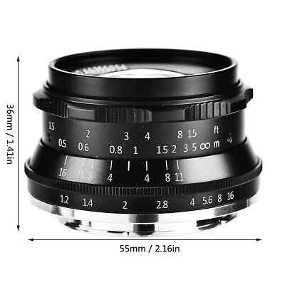 7Artisans 35mm F1.2 Prime Lens Manual Fixed Focus for Canon Mirrorless Cameras