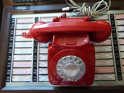 Vintage Red GPO  746  Dial Telephone Converted BT plug in