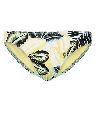 Ex Marks and Spencer Ditsy Floral Roll Top Hipster Bottoms Size 12 14 P114.3