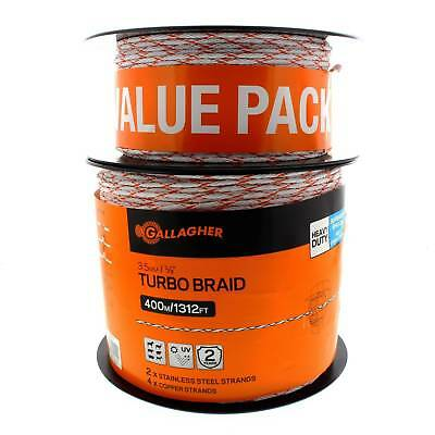 Turbo Braided Wire Value Pack 525m Electric Fencing SG62159 Gallagher