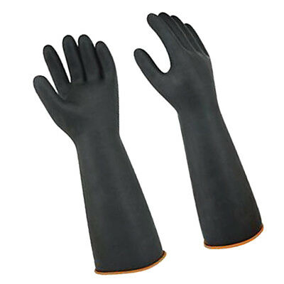45cm Long Black Latex Rubber Work Safety Gloves Industrial Protective Glove