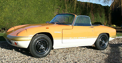 Lotus Elan Sprint S4 DHC. Concours Restored.22,000 documented miles from new