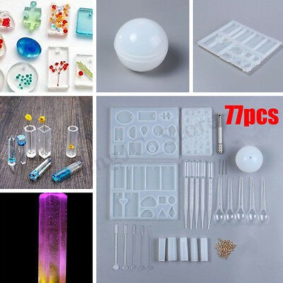 AU Resin Casting Mold Kit Epoxy  Mold Making Jewelry Pendant Mould Craft DIY Set