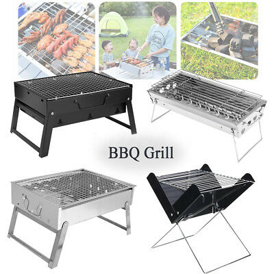 Portable Outdoor Barbecue BBQ Grill Folded Charcoal Cooking Picnic Camping Oven