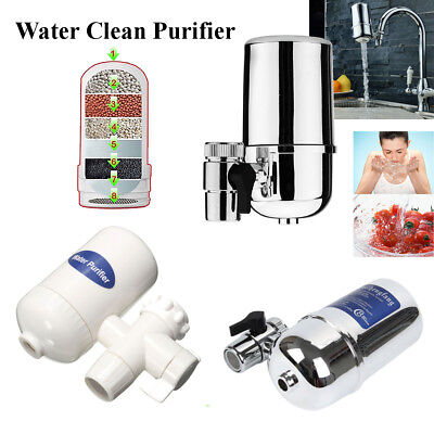 Water Filter Kitchen Sink Bathroom Faucet Clean Mount Filtration Tap Purifier