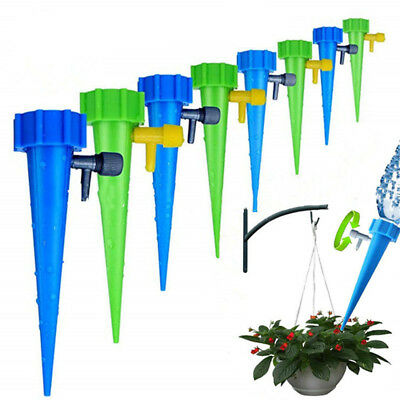 12pcs Automatic Garden Cone Watering Spike Plant Flower Bottle Irrigation UK