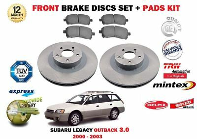 DISC PADS KIT FOR SUBARU LEGACY 2.0I R RE 5//2003-12//2009 REAR BRAKE DISCS SET