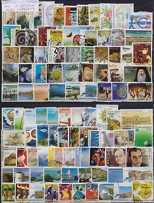 Greece Collection Of 100 Different Euro Currency Used Stamps. Combined Shipping