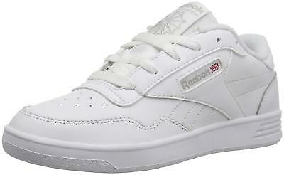 Reebok Womens Club Memt Low Top Lace Up Fashion Sneakers, White/Steel, Size 9.5