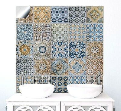 "6"" Traditional Moroccan Tile Sticker Transfer Vintage Bathroom Kitchen Fireplace"