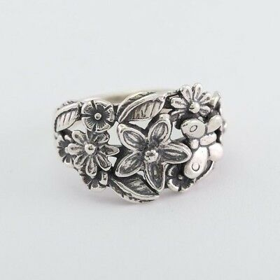 OR PAZ .925 Sterling Silver Callalilly Double Flower Ring Made in Israel