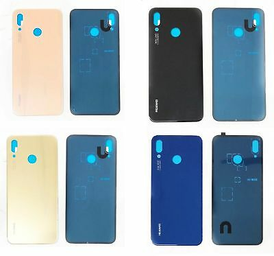 Huawei P20 Lite Nova 3E Replacement Rear Glass Back Battery Cover With Adhesive
