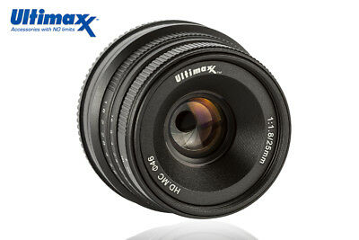 ULTIMAXX 25mm f1.8 Manual Lens for Fuji X-A1 X-A10 X-A2 X-A3 X-at X-M1 XM2 X-T1