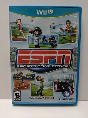 Wii U ESPN Sports Connection Tested - Light Use Excellent Cond. (2012)
